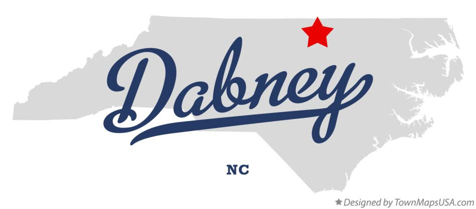 Map of Dabney North Carolina NC