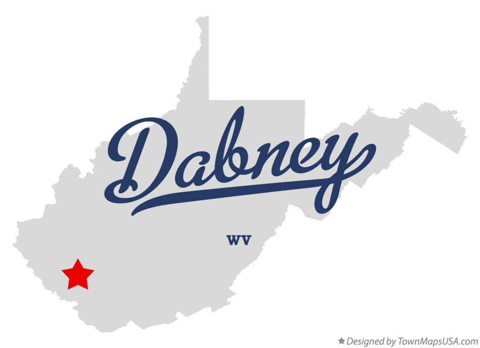 Map of Dabney West Virginia WV