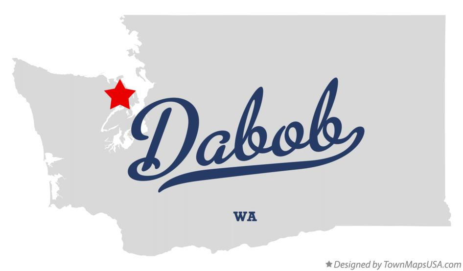 Map of Dabob Washington WA