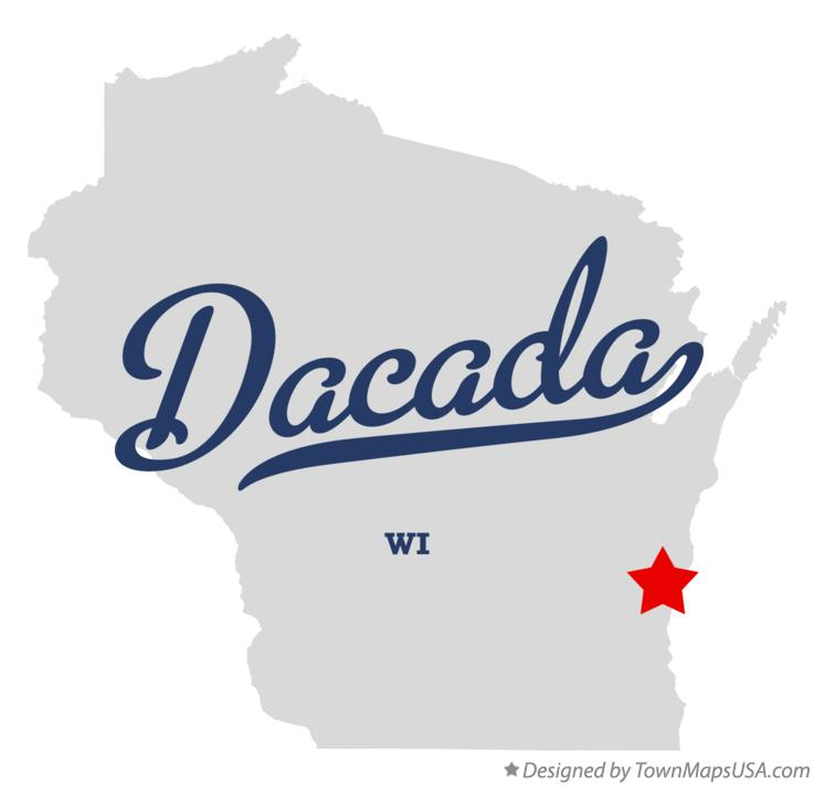 Map of Dacada Wisconsin WI