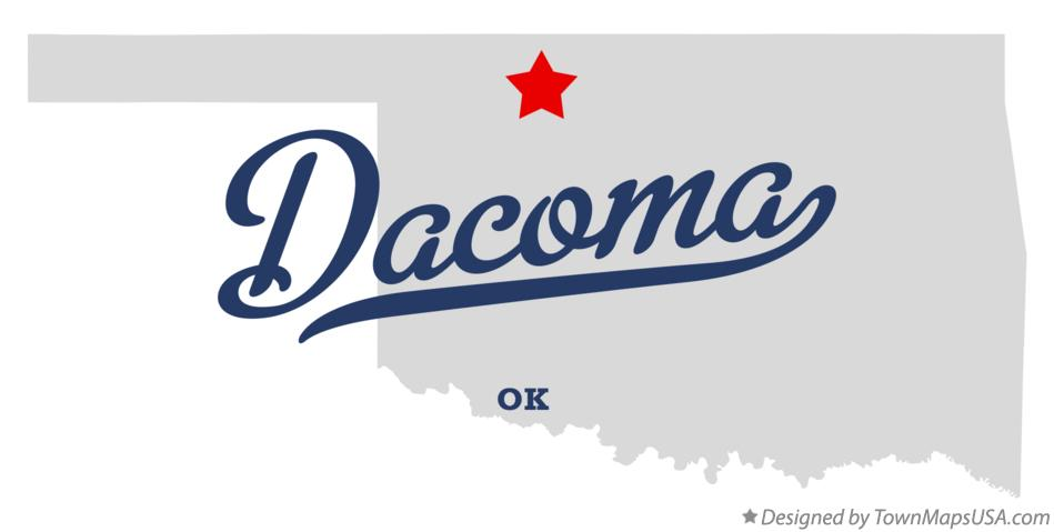 Map of Dacoma Oklahoma OK