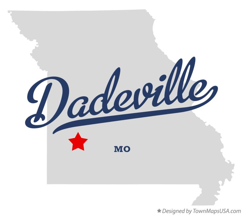 Map of Dadeville Missouri MO