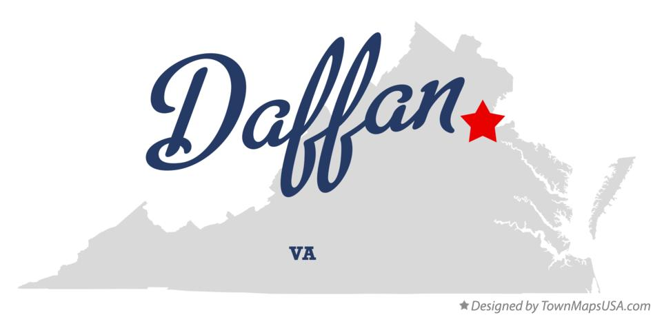 Map of Daffan Virginia VA