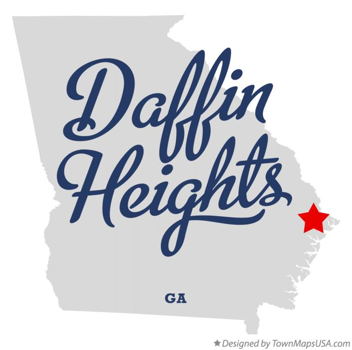 Map of Daffin Heights Georgia GA