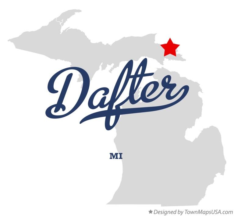 Map of Dafter Michigan MI