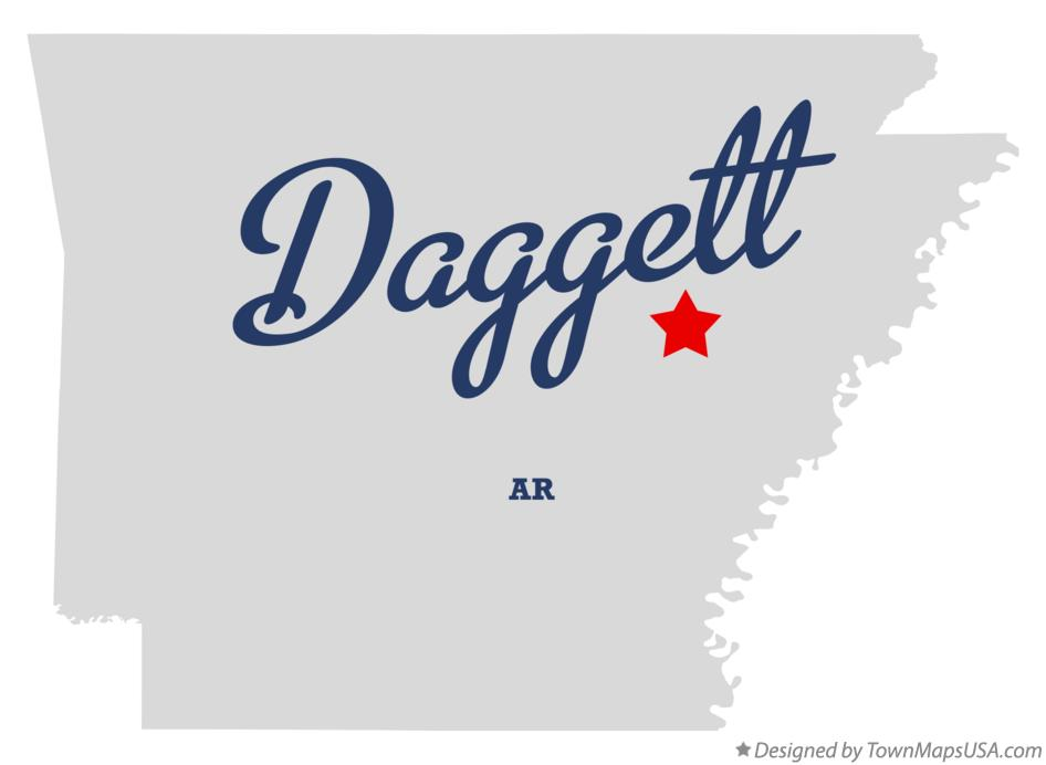 Map of Daggett Arkansas AR