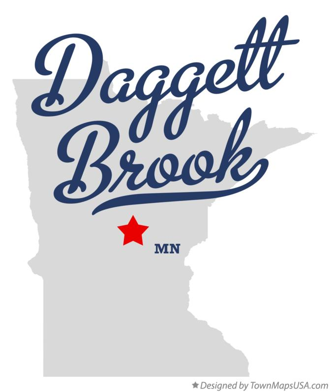 Map of Daggett Brook Minnesota MN
