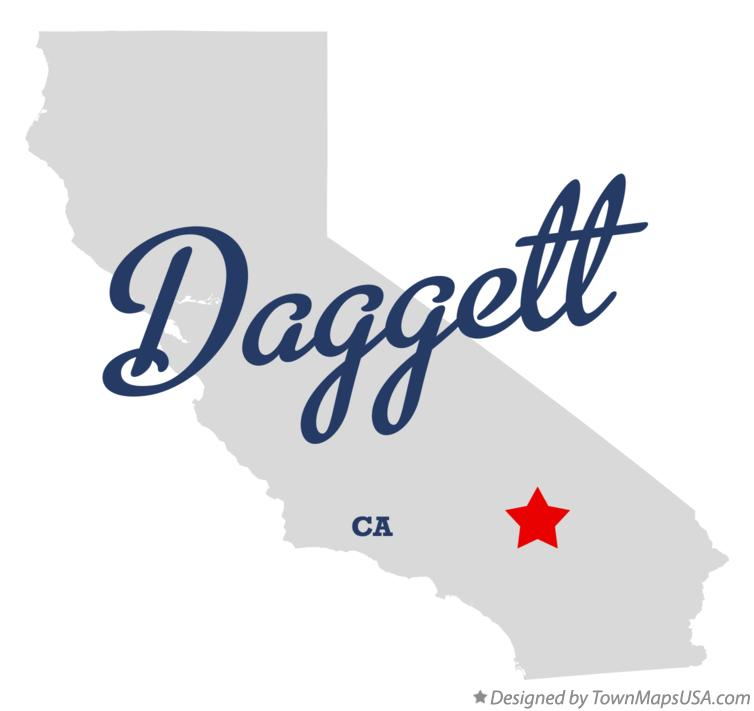 Map of Daggett California CA