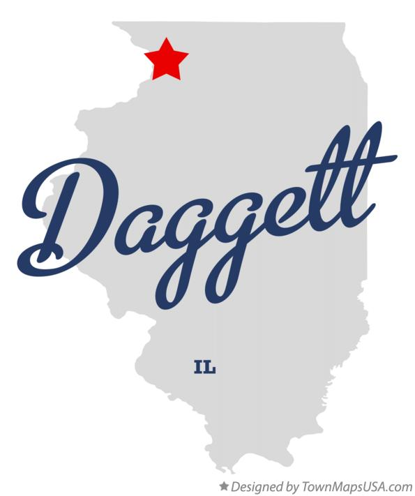 Map of Daggett Illinois IL