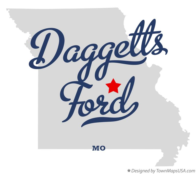 Map of Daggetts Ford Missouri MO