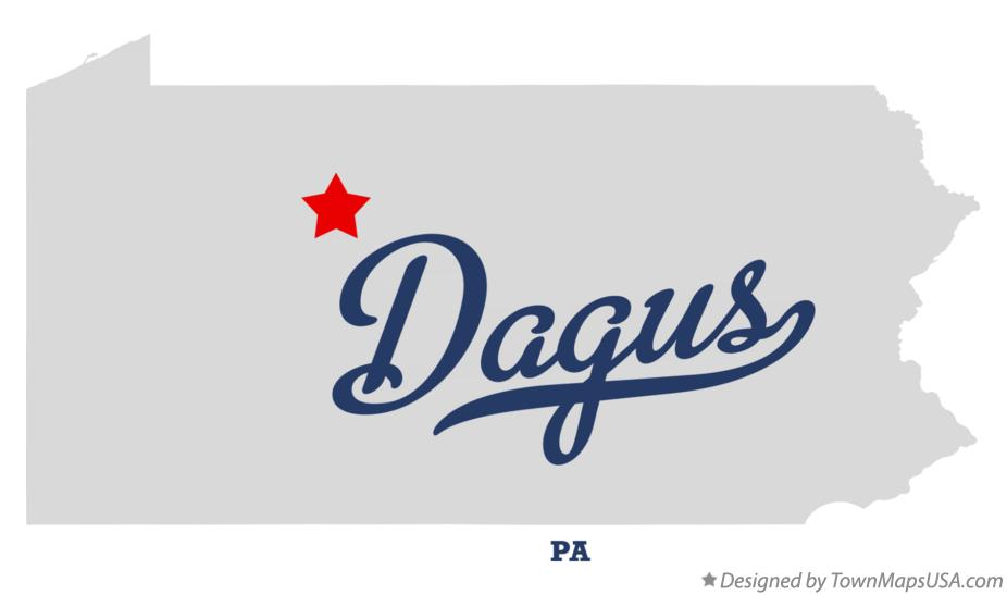 Map of Dagus Pennsylvania PA