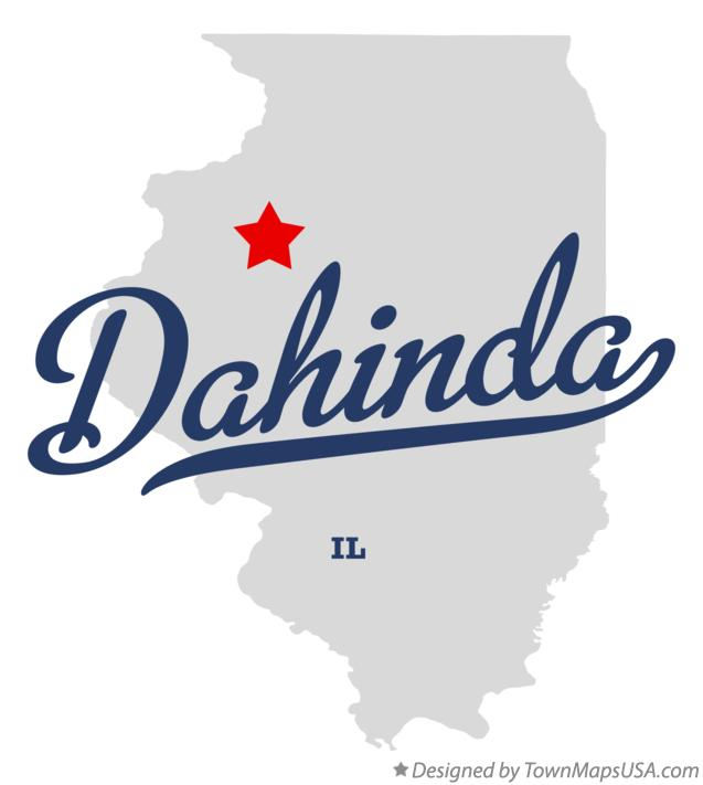 Map of Dahinda Illinois IL