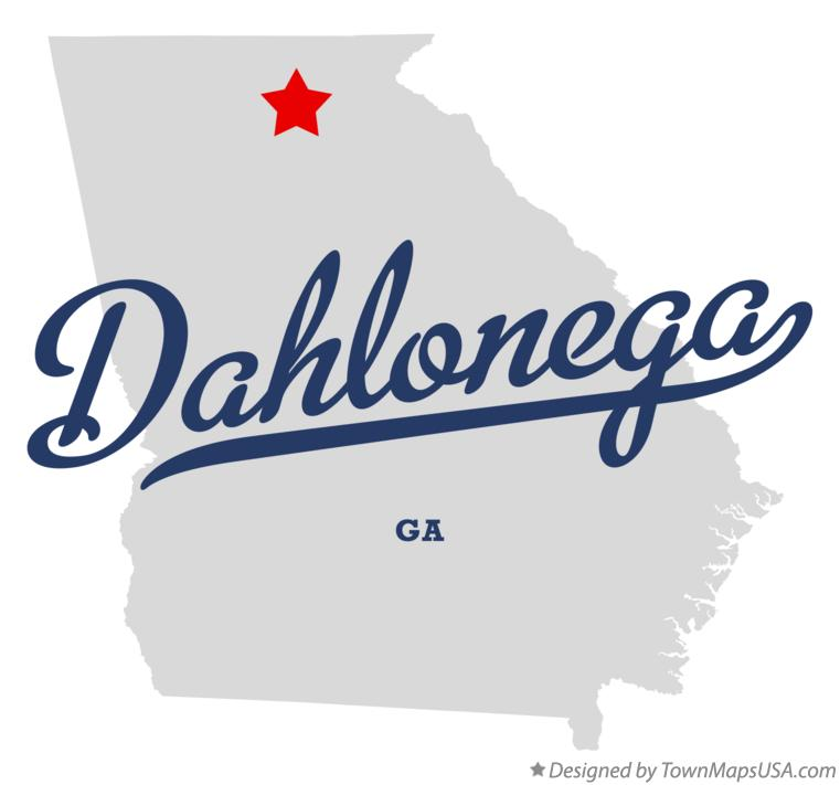Map of Dahlonega Georgia GA