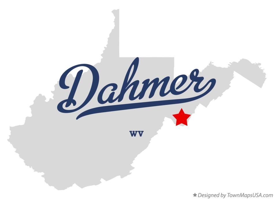 Map of Dahmer West Virginia WV