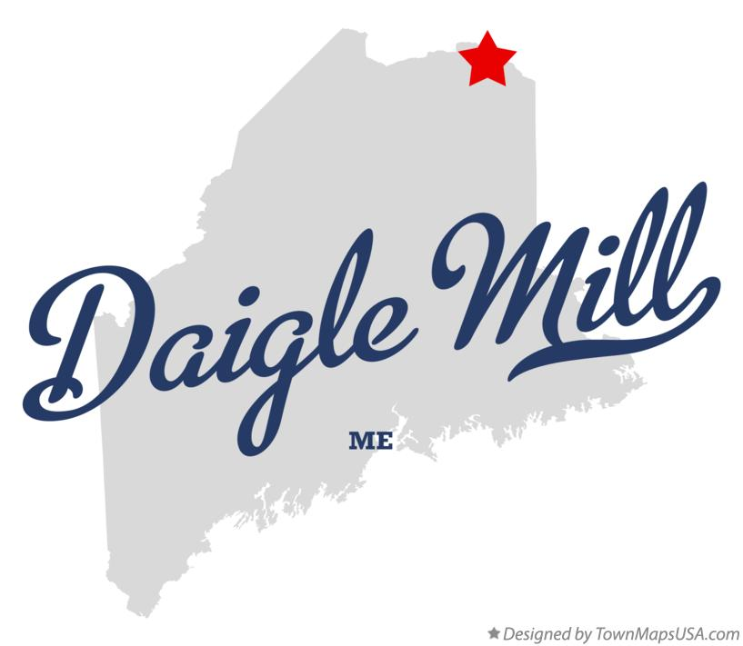 Map of Daigle Mill Maine ME