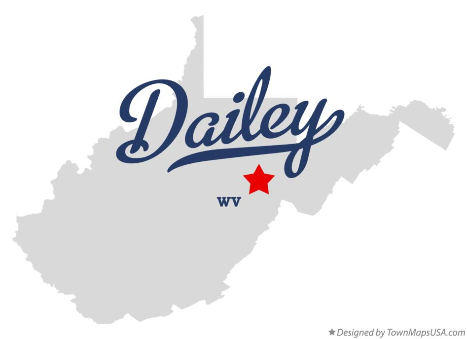 Map of Dailey West Virginia WV