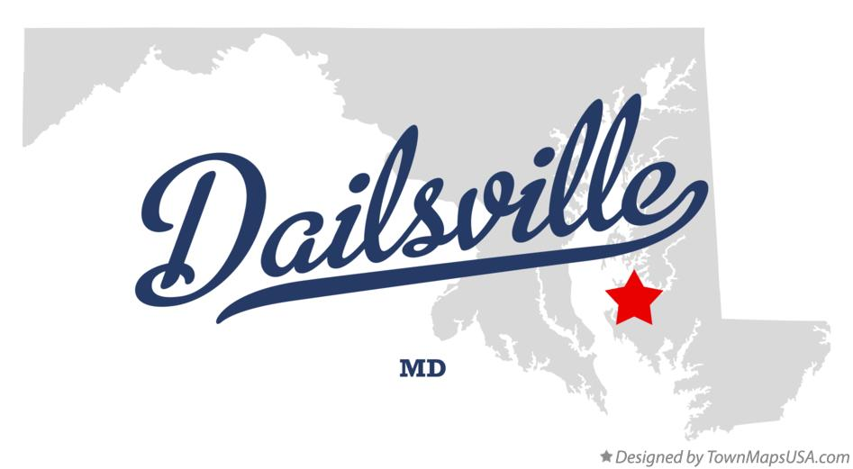 Map of Dailsville Maryland MD