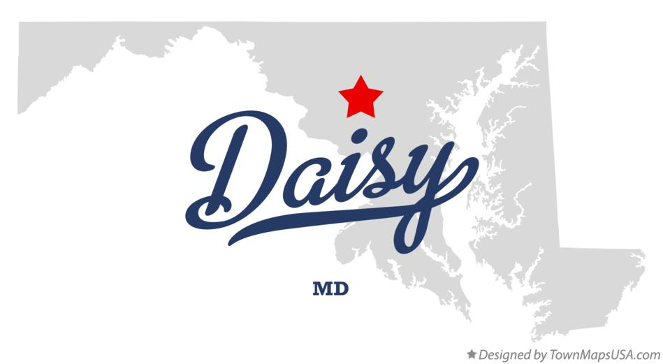 Map of Daisy Maryland MD