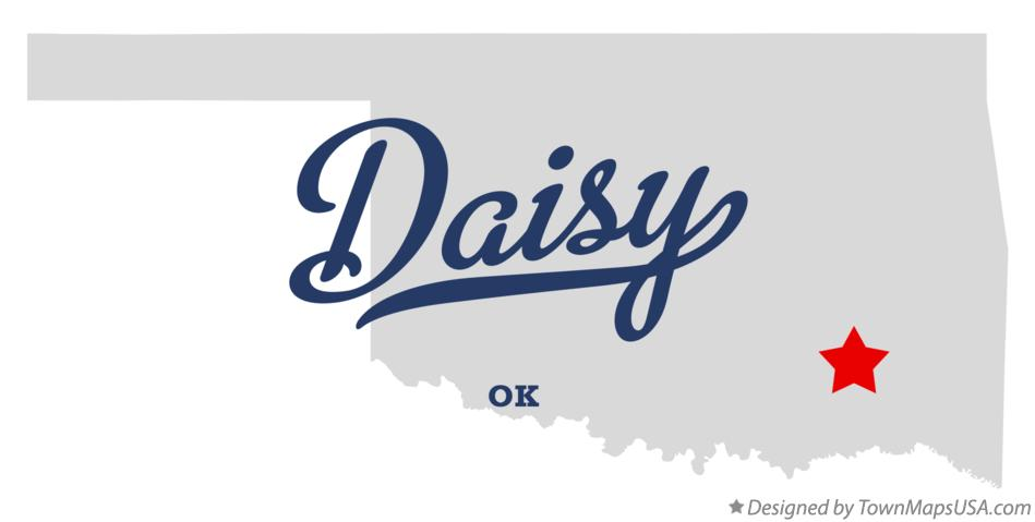 Map of Daisy Oklahoma OK
