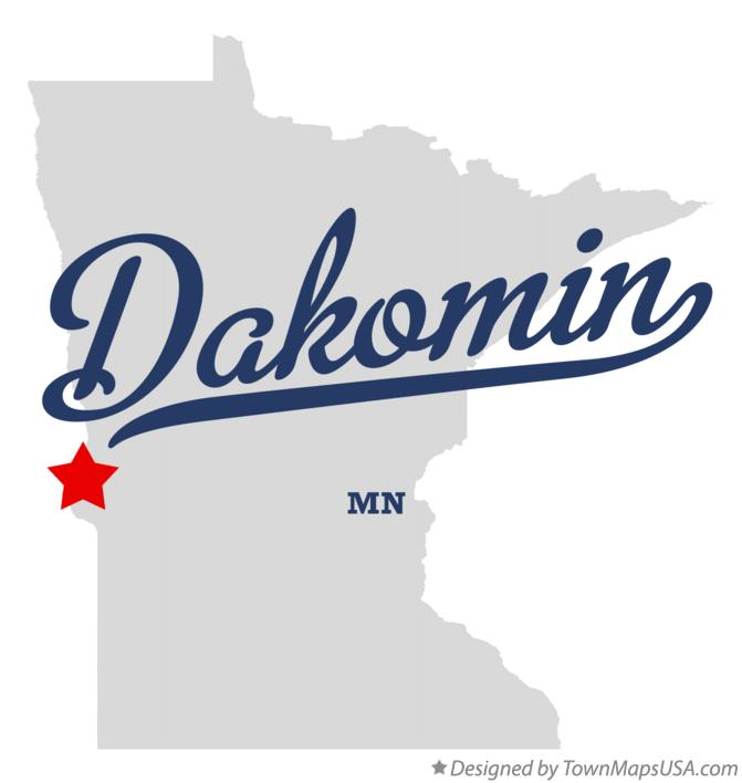 Map of Dakomin Minnesota MN