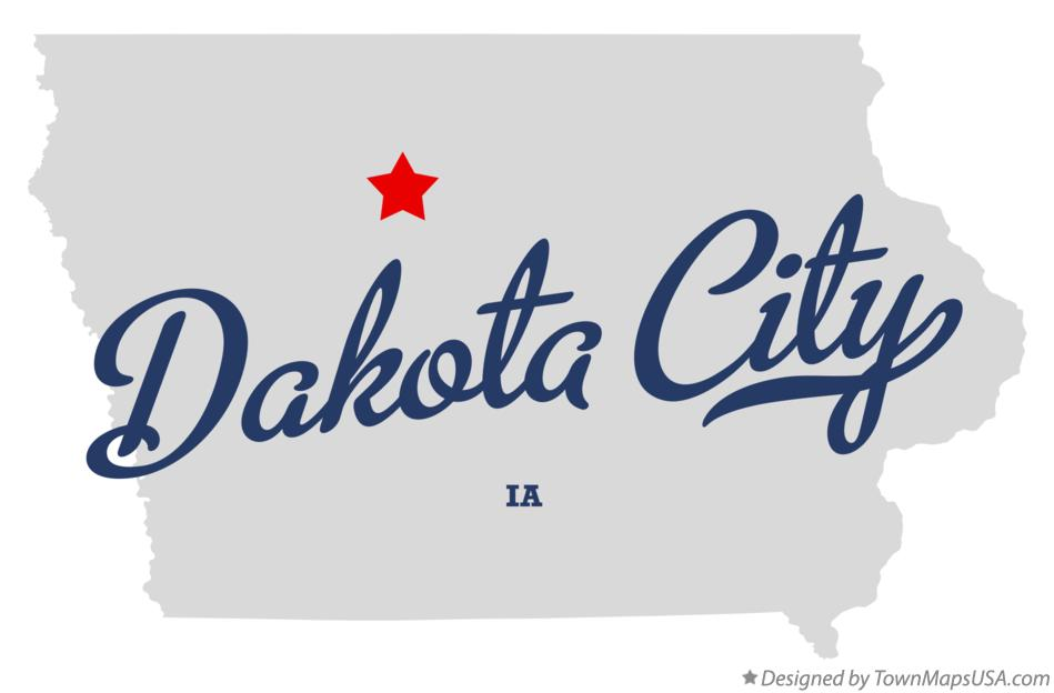 Map of Dakota City Iowa IA