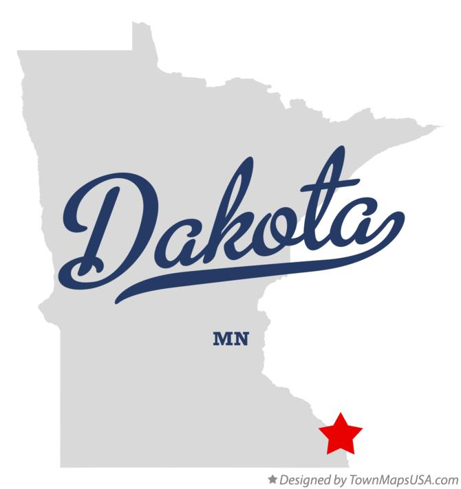 Map of Dakota Minnesota MN