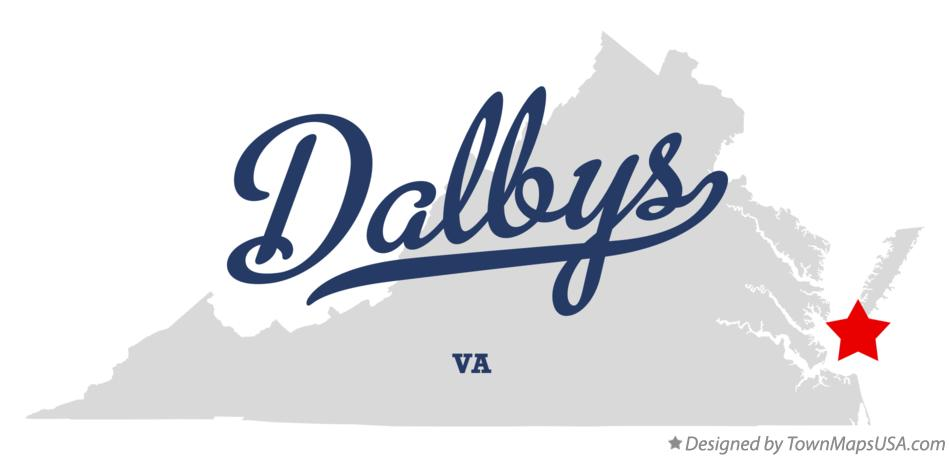 Map of Dalbys Virginia VA