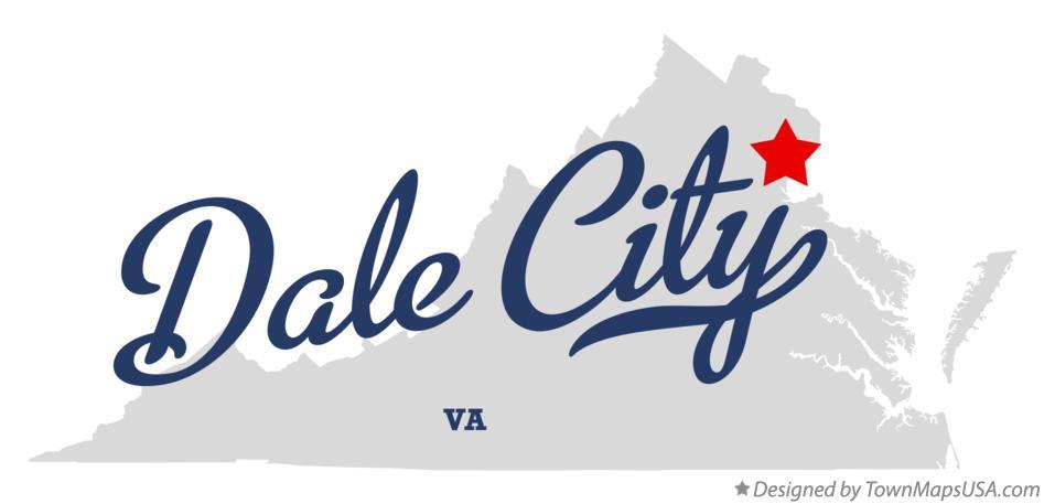 Map of Dale City VA Virginia