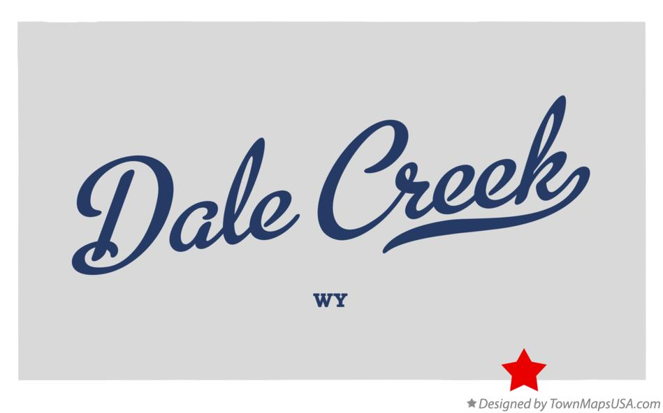 Map of Dale Creek Wyoming WY