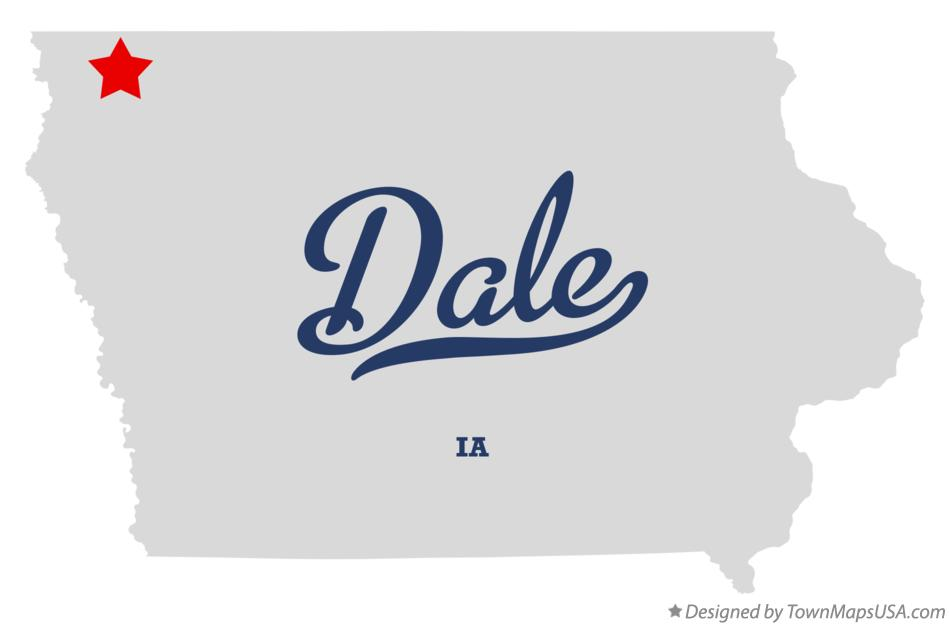 Map of Dale Iowa IA