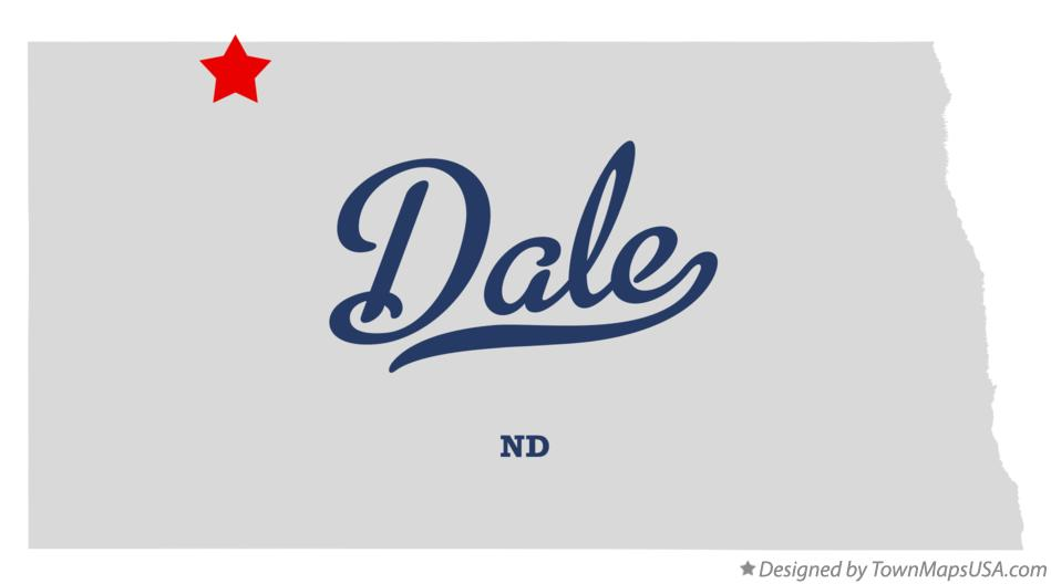 Map of Dale North Dakota ND