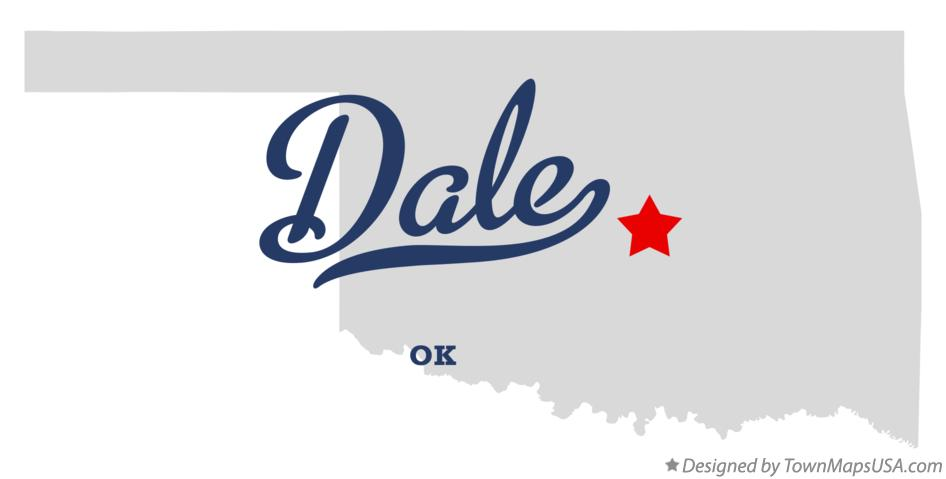 Map of Dale Oklahoma OK