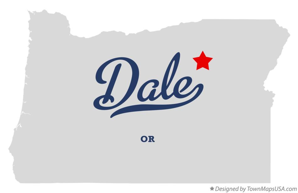 Map of Dale Oregon OR