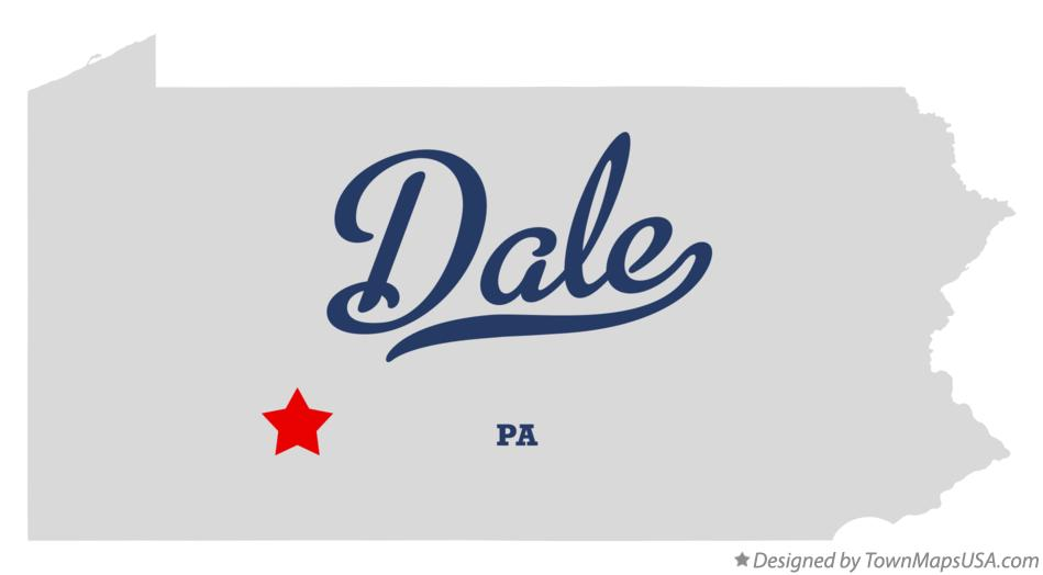 Map of Dale Pennsylvania PA