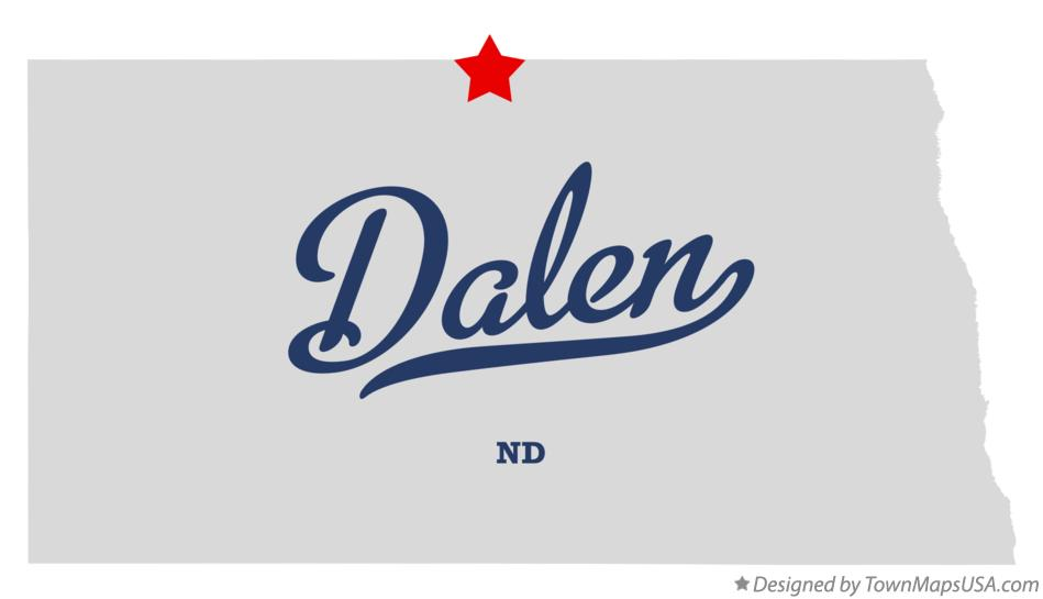 Map of Dalen North Dakota ND