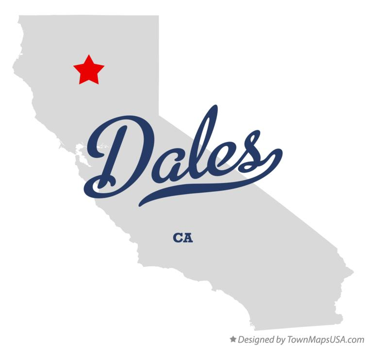 Map of Dales California CA