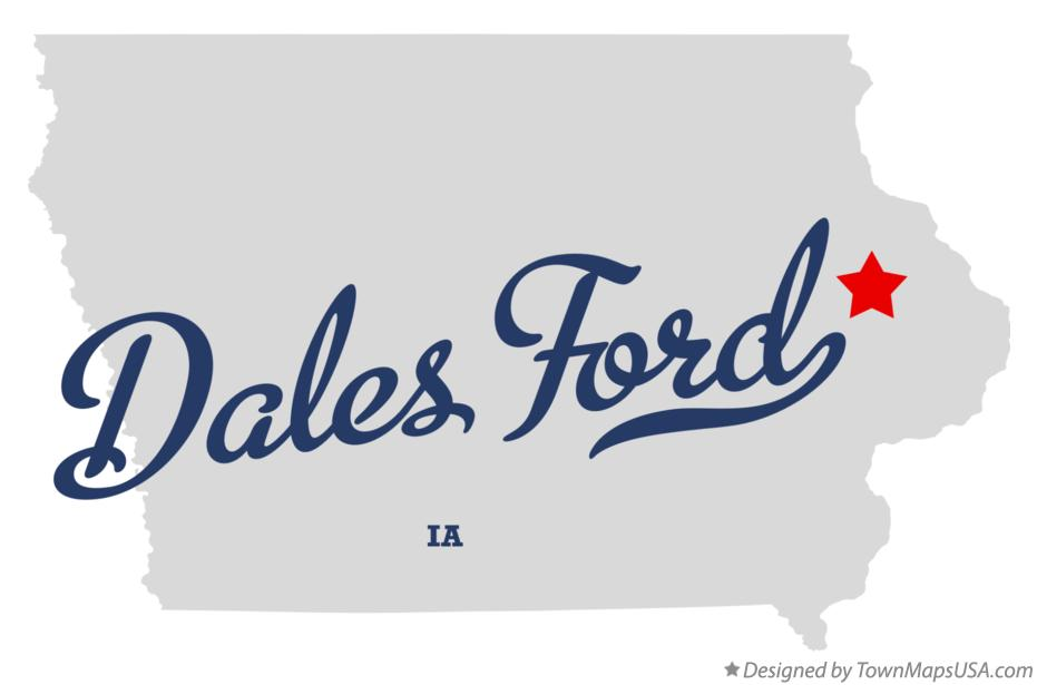 Map of Dales Ford Iowa IA