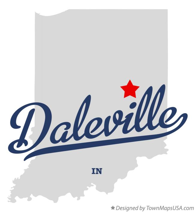 Map of Daleville Indiana IN