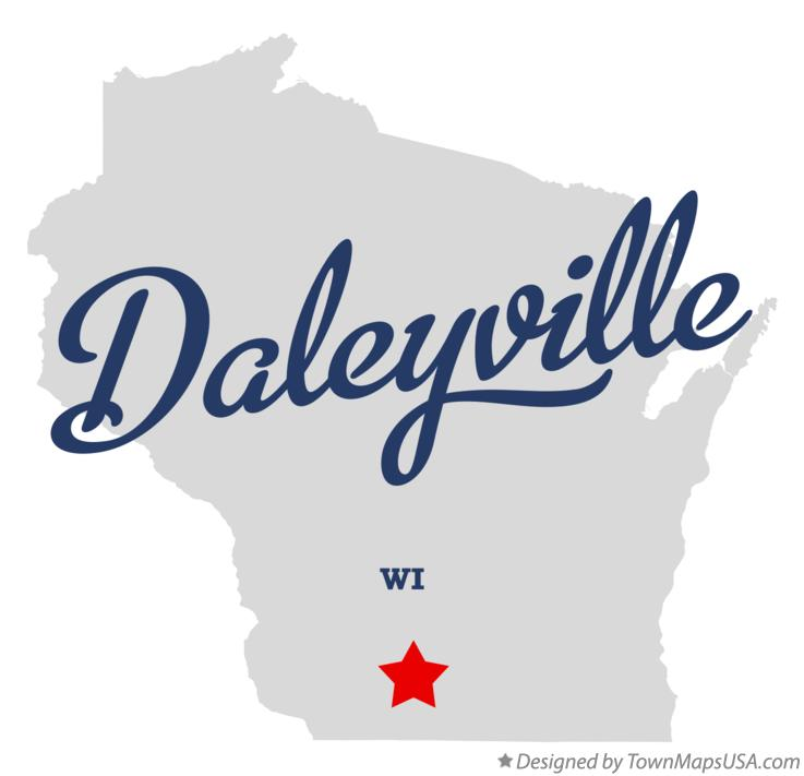 Map of Daleyville Wisconsin WI