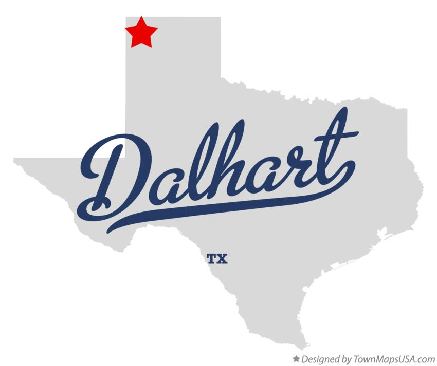 Map of Dalhart Texas TX