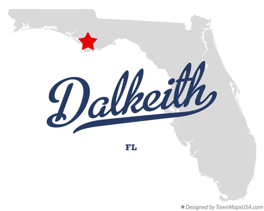 Map of Dalkeith Florida FL