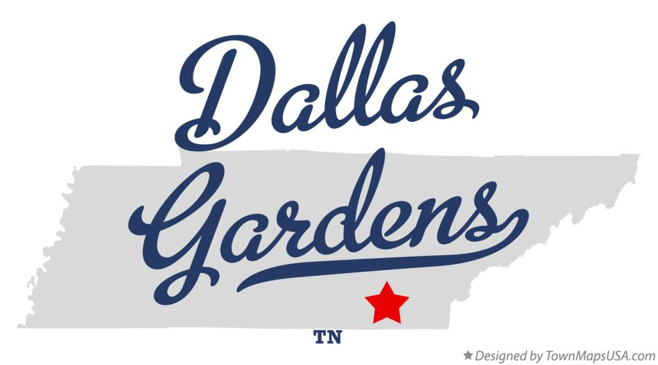Map of Dallas Gardens Tennessee TN