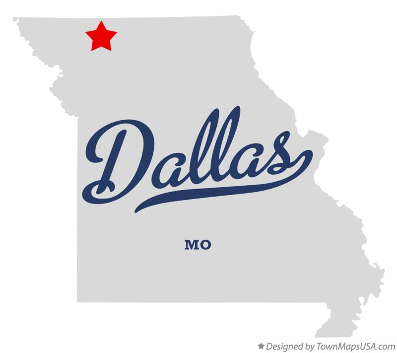 Map of Dallas Missouri MO
