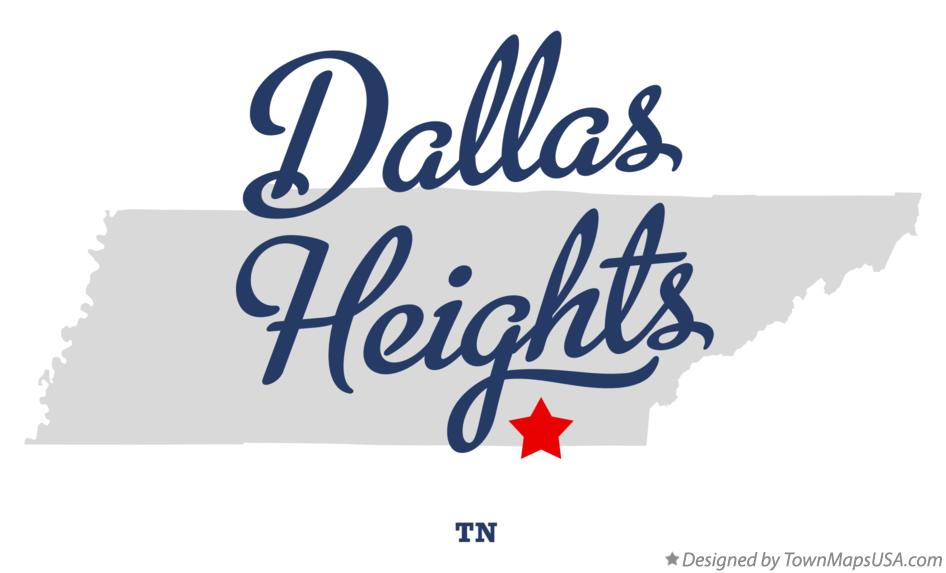 Map of Dallas Heights Tennessee TN