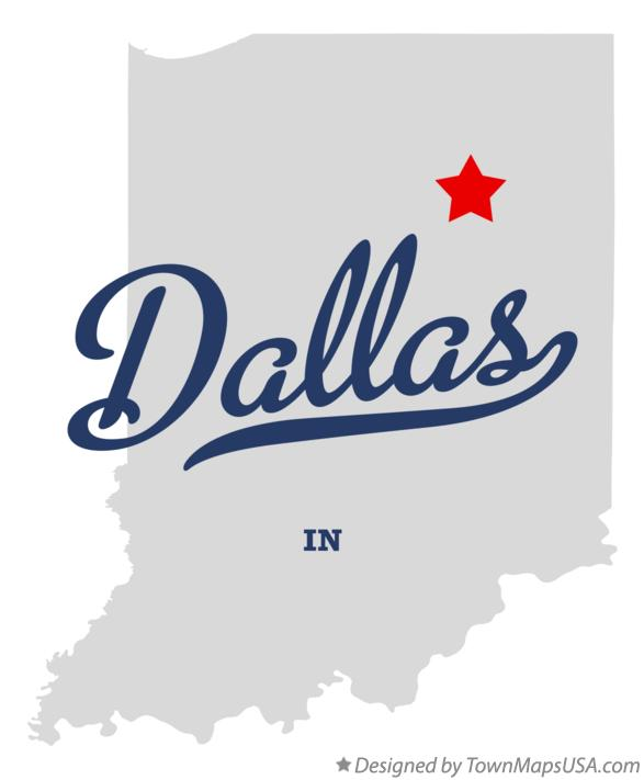 Map of Dallas Indiana IN