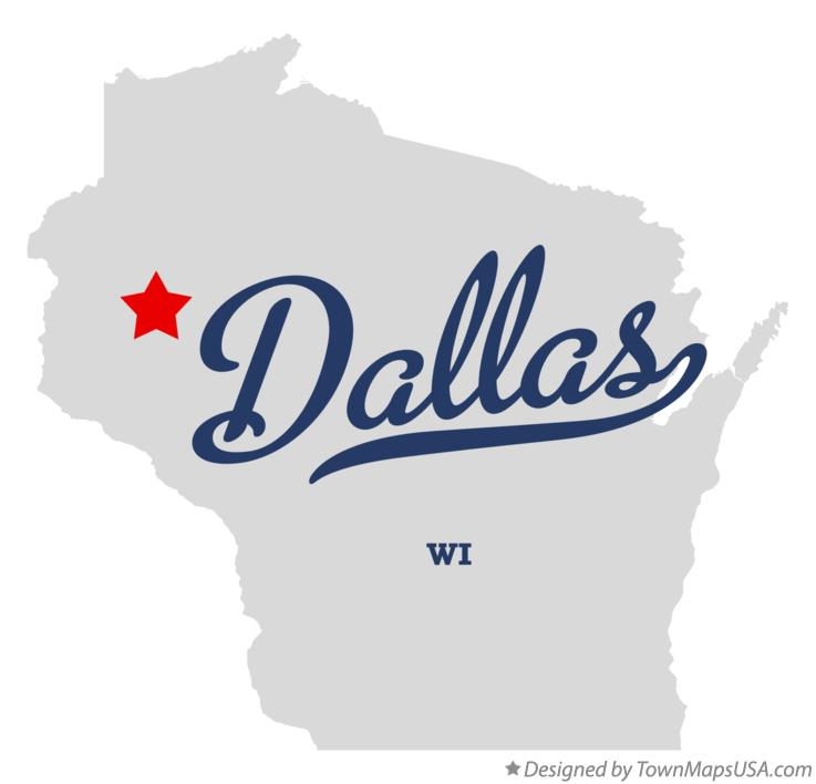 Map of Dallas Wisconsin WI