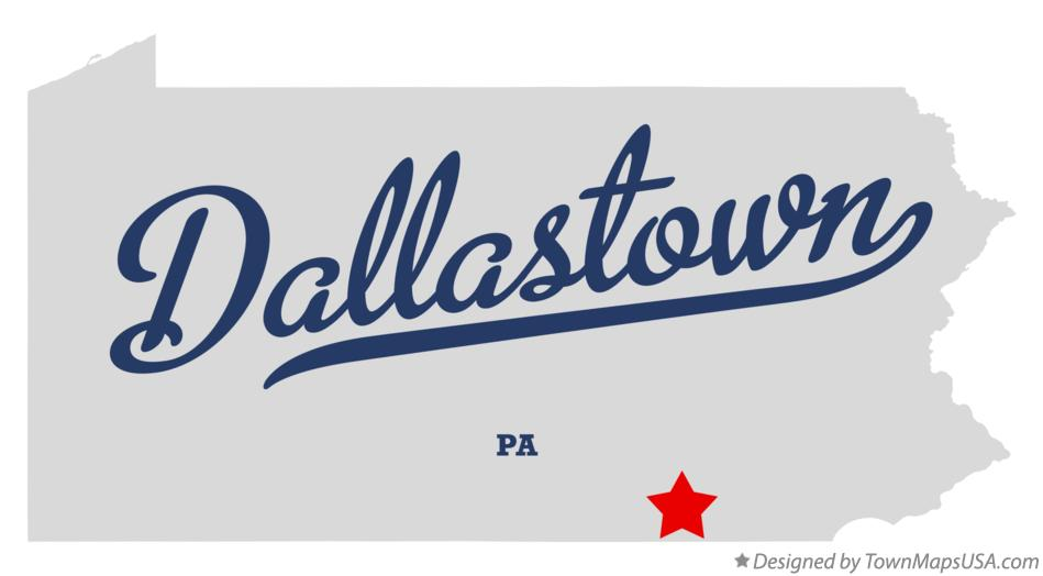 Map of Dallastown Pennsylvania PA