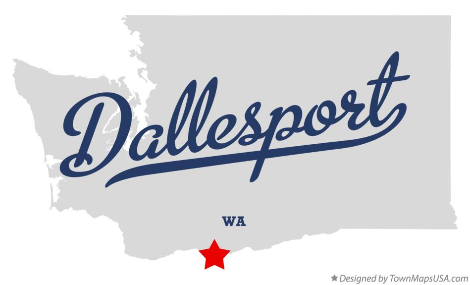 Map of Dallesport Washington WA