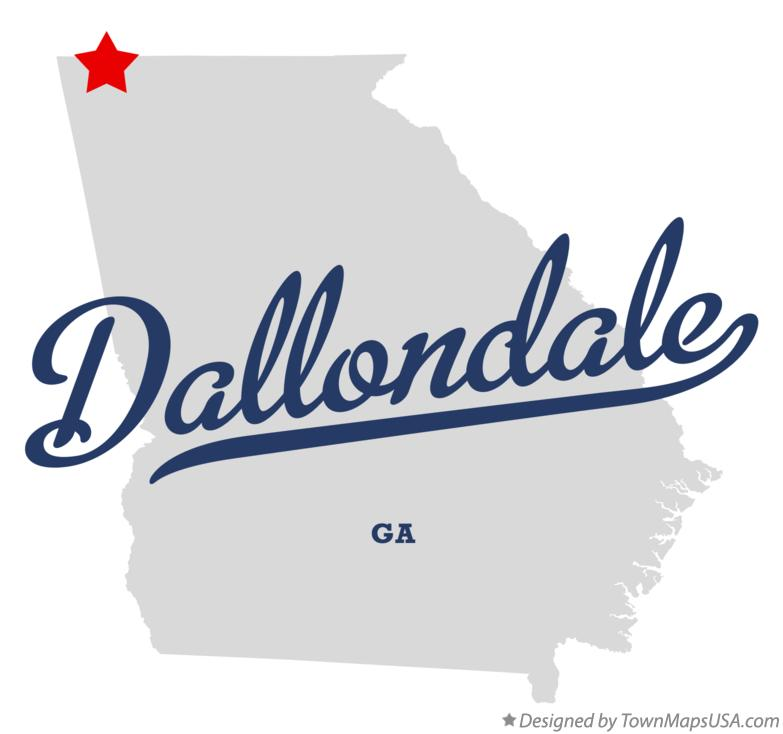 Map of Dallondale Georgia GA