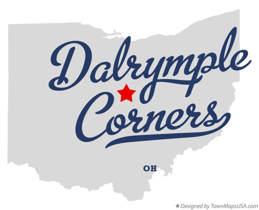 Map of Dalrymple Corners Ohio OH